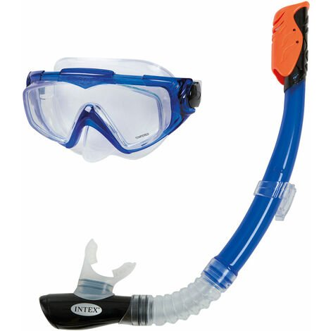 INTEX 55962 - Tubo y máscara buceo silicone aqua +14 años