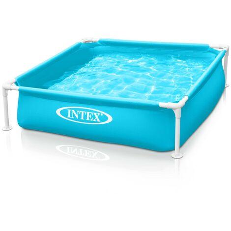 Intex 57173 piscina cuadrada Mini Frame para niños y perros