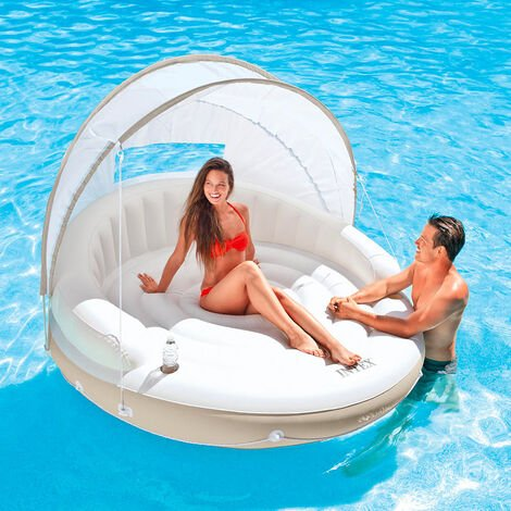 Intex 58292 Canopy Island Inflatable Lounge for the Pool or Beach