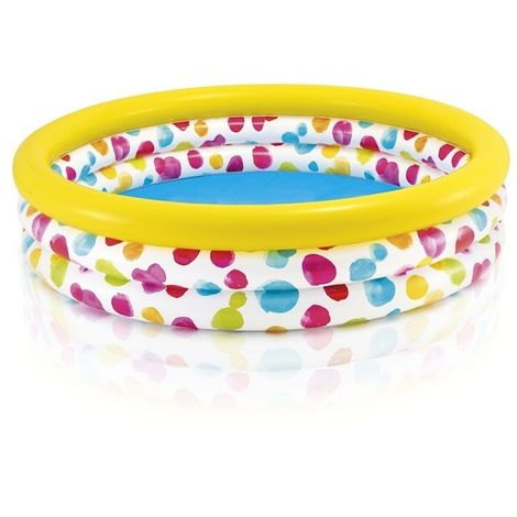 INTEX 58439NP PISCINE HORS SOL PISCINE GONFLABLE ROND MULTICOLORE