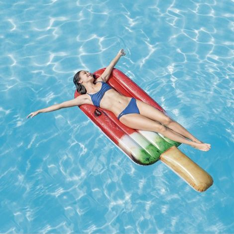 Intex 58751 Watermellon Popsicle Inflatable Single Pool Mattress