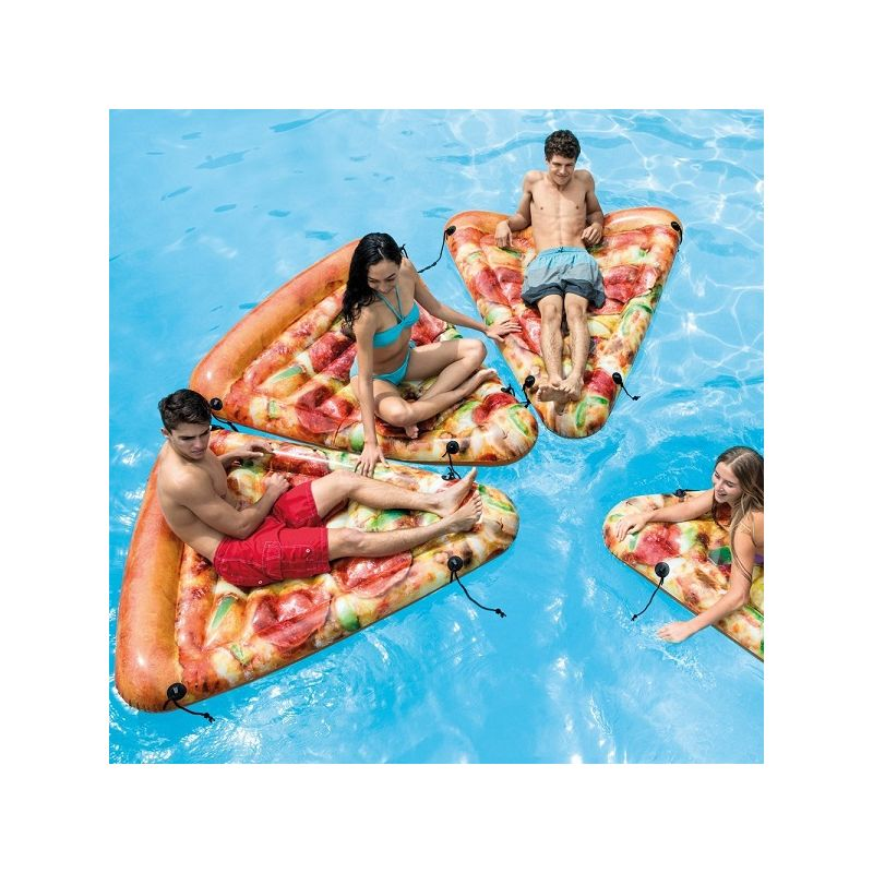Materasso Materassino Gonfiabile Mare Stampa Realistica Pizza 175x145cm 58752 - INTEX