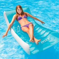 Intex 58856 Inflatable Floating Lounge Chair for the Pool or Beach ROCKIN LOUNGE