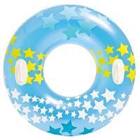 """Intex 59256NP Schwimmring """"Sterne"""" mit Haltegriffen, Ø 91 cm, hellblau"""