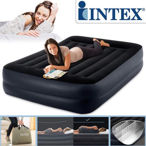 Intex 64124 Pillow Rest Raised 230 V Doppel-Luftbett