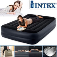 Intex 64124 Pillow Rest Raised 230 V Doppel-Luftbett