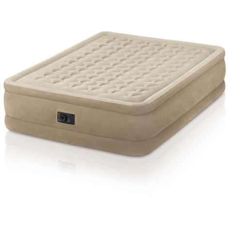 Intex 64458 Inflatable Double Mattress with Integrated Pump Extra Comfort