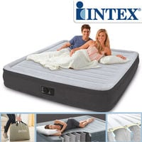 Intex 67770 Luftbett mit Pumpe Gästebett 203x152x33cm Comfort-Plush