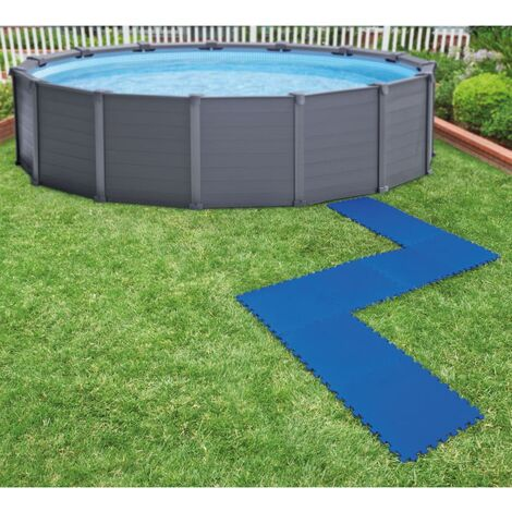 Intex 8 pcs Pool Floor Protectors 50x50 cm Blue
