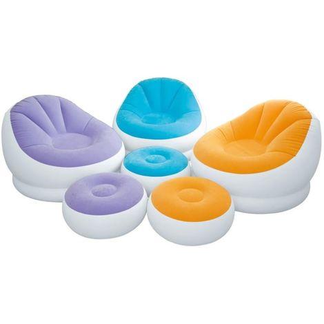 Lounge Sessel Fernsehsessel Sitzsack Camping Luftbett Gästebett von INTEX