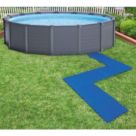 Intex Bâches de sol de piscine 8 pcs 50 x 50 cm Bleu