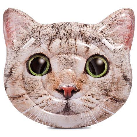 INTEX Cat Face Katze mit Griffen Schwimmliege Wasserliege Badeinsel 58784 Lounge