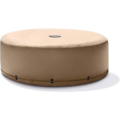 Intex Couverture isolante pour jacuzzi PureSpa Intex - économie d'énergie - beige