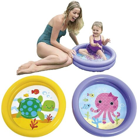 Intex Crystal Blue Three Ring Inflatable Paddling Pool 59416NP