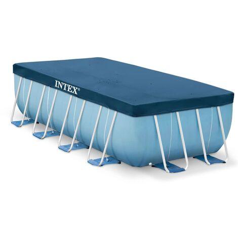 Intex Cubierta de Piscina Rectangular Toldo Azul Marino de Diferentes Tamaños