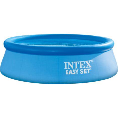 Intex Easy Set Pool 128120NP, Ø 305cm x 76cm, Schwimmbad, hellblau/dunkelblau