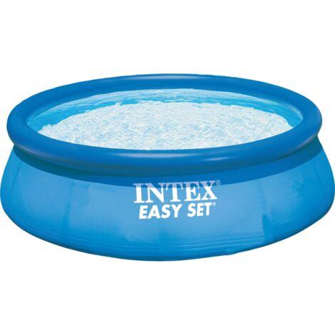 Intex Easy Set Pools 128132GN, Ø 366 x 76 cm, Schwimmbad, hellblau/dunkelblau, mit