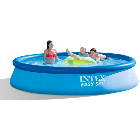 Intex Easy Set Pools, Ø 396 x 84 cm, Schwimmbad, hellblau/dunkelblau