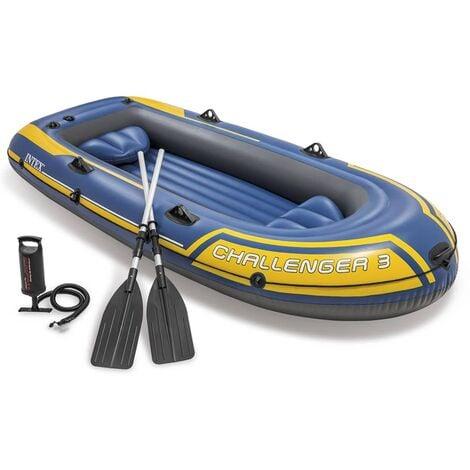 Intex Ensemble de Canot Pneumatique avec Rames et Pompe Bateau Gonflable Kayak Camping Lac Pêche Extérieur Multicolore Multi-taille