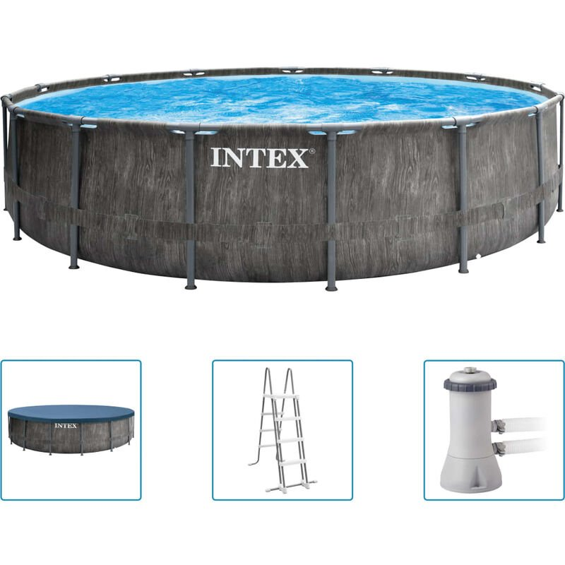 Ensemble de piscine Greywood Prism Frame Premium 457x122 cm - Intex