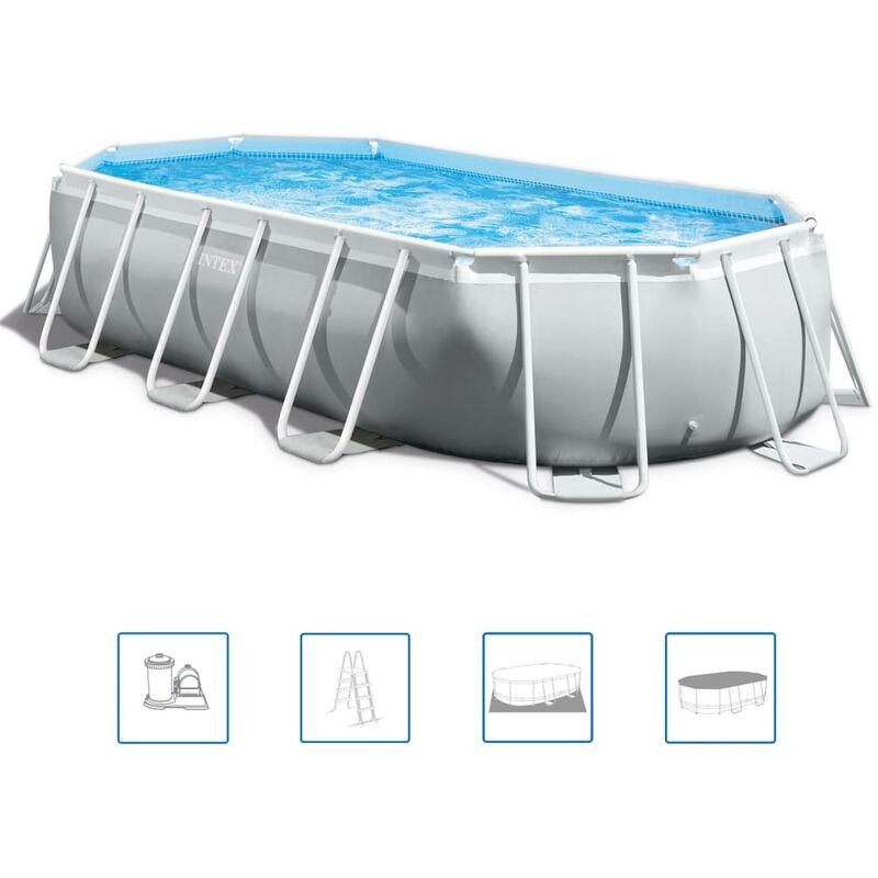 Ensemble de piscine ovale Prism Frame 503x274x122 cm 26796GN - Intex