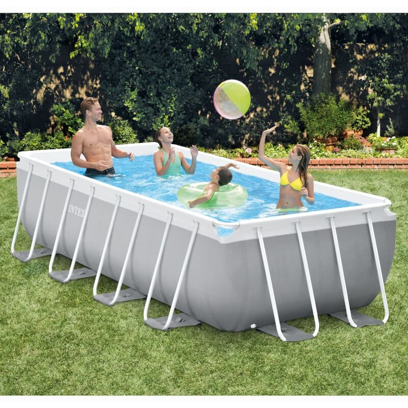 Ensemble de piscine Prism Frame Rectangulaire 400x200x100 cm - Intex