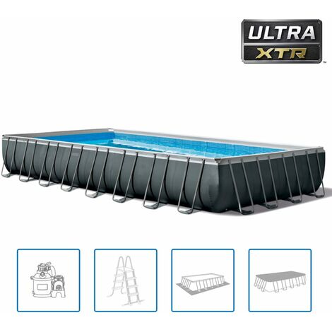 Intex Ensemble de piscine Ultra XTR Frame Rectangulaire 975x488x132 cm