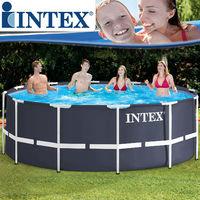 Intex Ersatz-Pool Frame 366x122 cm - mit Anschluss-Set (ohne Schläuche)