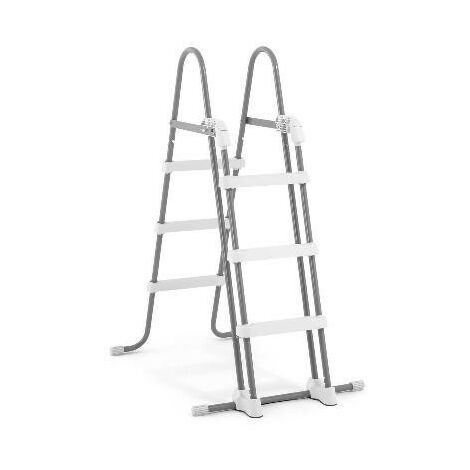 INTEX|ESCALERA INTEX ACERO PARA PISCINAS DE ALTURA 91 A 107 CM|28072