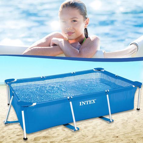 Intex Frame Pool Rechteck 220x150x60cm Schwimmbad Schwimmbecken Familypool-28270