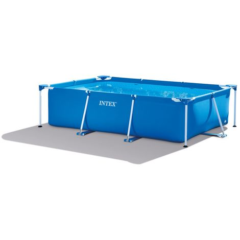 "Intex Frame Swimming Pool Set Serie ""Family II"" blau 260 x 160 x 65 cm"