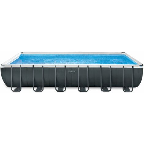 "Intex Frame Swimming Pool Set ""Ultra Quadra XTR"" anthrazit 732 x 366 x 132 cm Inkl. Sandfilteranlage"