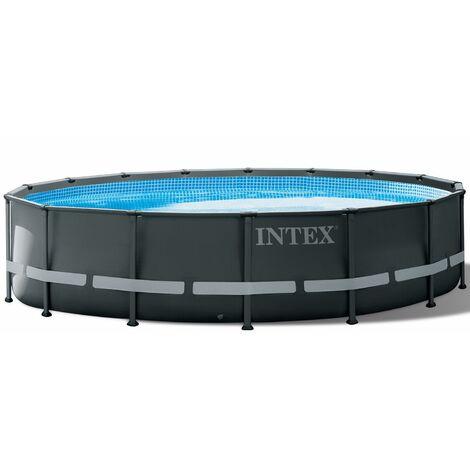 "Intex Frame Swimming Pool Set ""Ultra Rondo XTR"" anthrazit Ø 488 x 122 cm Inkl. Sandfilteranlage"