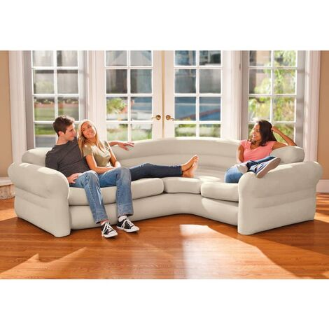 """main image of """"Intex Inflatable Corner Sofa/Couch 257x203x76 cm 68575NP - Beige"""""""
