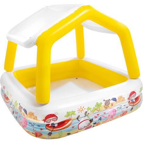 Intex Inflatable Sunshade Pool 157x157x122 cm - Multicolour