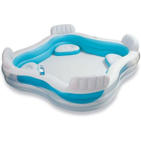 Intex Inflatable Swim Center Family Lounge Pool 56475NP - Blue