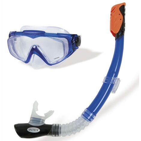 Intex Kit de buceo 2 piezas Silicone Aqua Sport - Azul