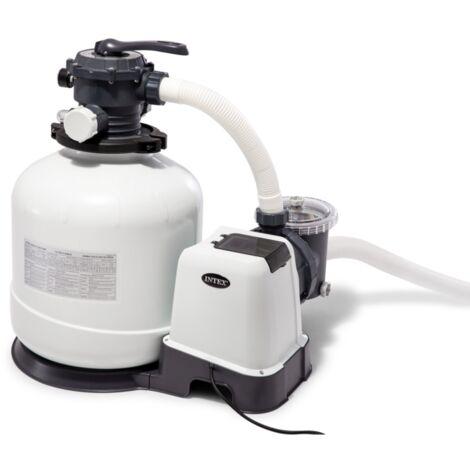 Intex Krystal Clear Sandfilteranlage SF60220RC, Wasserfilter, dunkelgrau/grau, 650 Watt
