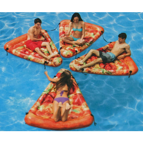 Intex Luftmatratze Pizzastück Pool Lounge Pizza Design Badeinsel 102360