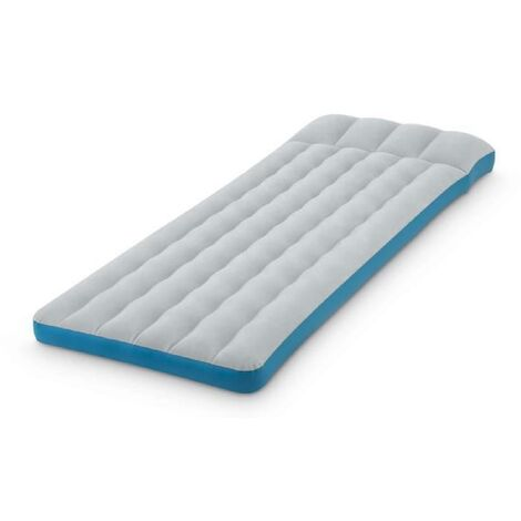 INTEX Matelas de Camping Gonflable - 1 place - Gris