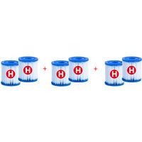 Intex - Pack 6 cartuchos filtro depurador - Tipo H