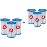 Intex - Pack de 6 cartuchos filtro - Tipo A