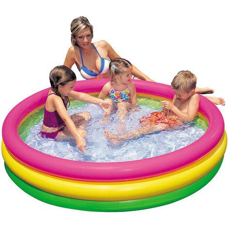Intex Piscina bambini con 3 anelli gonfiabile 147x33cm gioco estate mare 57422
