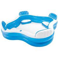 INTEX - Piscina hinchable cuadrada & asientos 229 x 66 cm - 990 l (56475NP)
