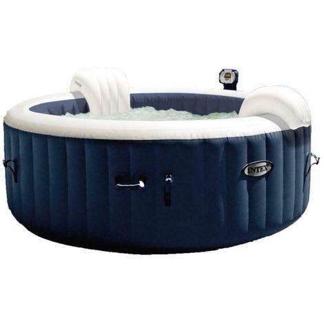 Intex Piscina Spa Idromassaggio Bubble Massage 196X71 Cm 4 Posti da Esterno con Accessori