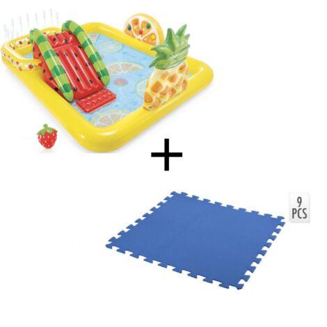 Intex Piscine gonflable pour enfants avec puzzle au sol - 244 x 191 x 91 cm