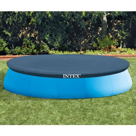 """main image of """"Intex Pool Cover Round 457 cm - Blue"""""""