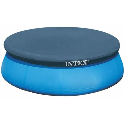 Intex Pool Cover Round Outdoor Garden Patio Swimming Paddling Pool Cover Pool Cloth Sheet Weather Protective Cover Frame Multi Size Multi
