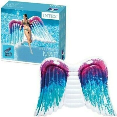 Intex Pool Float Inflatable Angel Wings Mat Lounger with Handles 251 x 160 cm