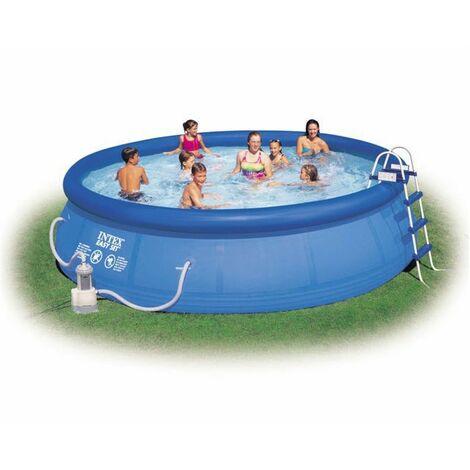 "Intex Pool Set ""Easy"" blau Ø 457 x 107 cm Inkl. Kartuschenfilteranlage"